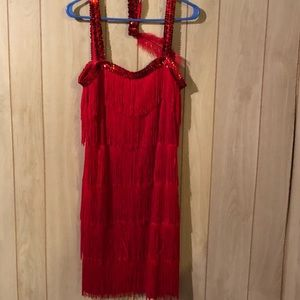 Dresses & Skirts - 1920's Flapper dress and accessories